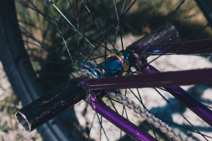 Purple beast  Pride Street Main Frame  With stress disco hub #pridestreet #psbikes #mainframe