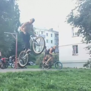 Minsk mafia with Max Redman yo!  @max_redman27 -  Some movemets from Minsk🔥🔥🔥!Let's get it @pridestreet @dklimat @dimkabmx_ #pridestreet #MTB #mtb26 #ridemtb #tricks #tailwhip #barspin #helicopter #bmx #suka #go #video #suicide #nohands #lilpump #dirt @therisedotcom @dirtjumpturkey @plussizebmx - #psbikes #mainframe