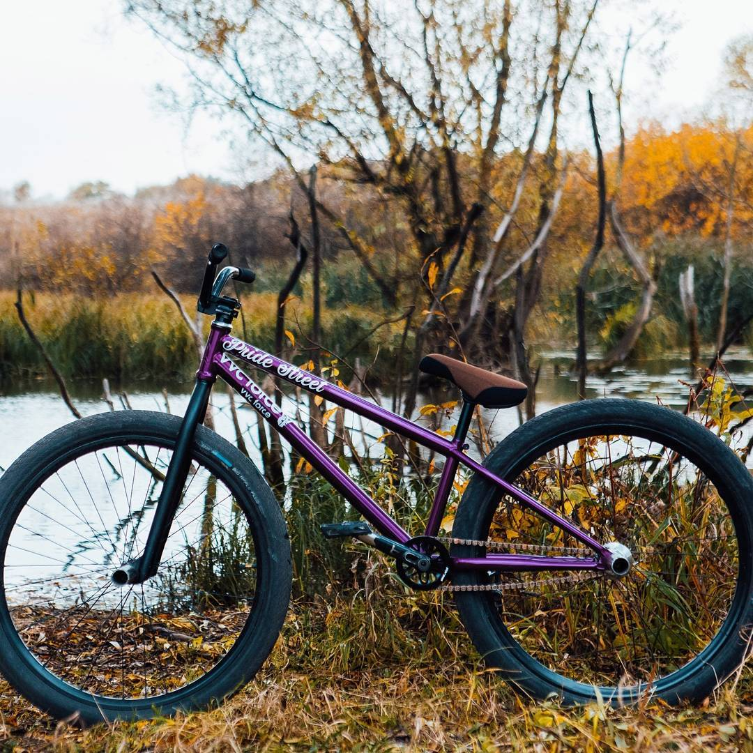 The purple beast from Serj Matt on Pride Street Main Frame Pro version 26″  @serj_matt – 🍂Autumn bike check 2К17🍂 📷 @kiselevision  @pridestreet  @vvcforce_production  @vvcforce  @ciay 🔥🔥🔥🔥🔥🔥🔥🔥🔥 ⬇️⬇️⬇️⬇️⬇️⬇️⬇️⬇️⬇️ Frame – Pride Street Main Frame PRO 2017  Fork – Pride Street Meat V.2 Bar – Pride Street Profit Bar L 106 Stem – Pride Street RS Stem Cranks – Pride Street Atlas Cranks  Front hub – Pride Street Impulse Front Front rim – Halo T2 26 Back hub – Pride Street Impulse Back rim – Sun Ringle MTX 26 Seat – Pride Street Common Fat Seat Star – Pride Street Clip Guard 25t Chain – Shadow Interlock Pedals – BSD Safari  Tires – Schwalbe Big Apple 26 – 2,15 Black Grips – Eclat Bruno Hoffmann Hub guards – Lifestyle BMX #pridestreet #psbikes #psmainframepro #vvcforce #vvc #ciay #cashop #ca #mtb #mtbstreet #mtbpower #mountainbike #mtb26 #bikestagram #bikecheck #moscow #russia #russian #new #street #style #steez #forest #river #niceshot #bikestagram #ride #ridemtb #beautiful #nicebike #top