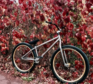 Autumn compilation with Pride Street Main Frame 26 in Chrome color ➕ PS Street Meat fork and other PS parts, correct choice bro! Yo! #pridestreet #psbikes #mainframe